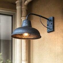 Applique extérieure Vintage en fer forgé applique murale américaine balcon couloir allée lumière de jardin étanche à la pluie applique murale soutien-gorge applique