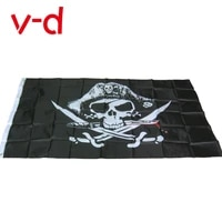 free shipping xvggdg new huge 3x5ft skull and cross crossbones sabres swords jolly roger pirate flags with grommets