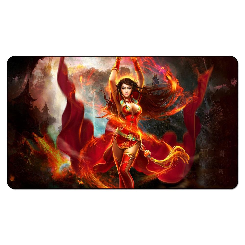Tapete para Magic Vanja Fire Giant Queen/Liliana Sex/Force of Will Legacy, juego de tapete para Magic para juegos de mesa