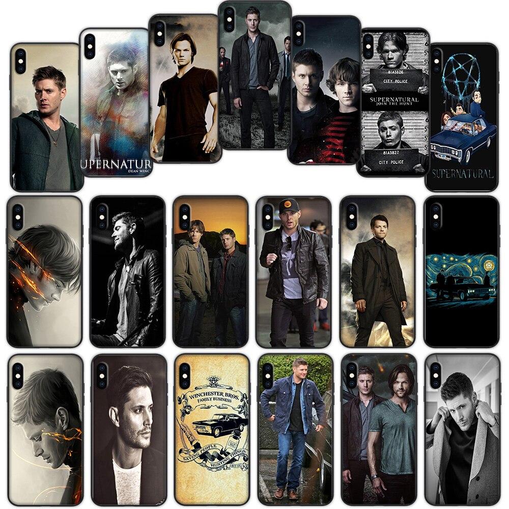 Sobrenatural suave funda para iPhone XS 11 Pro Max XR X 7 7 6 6S Plus