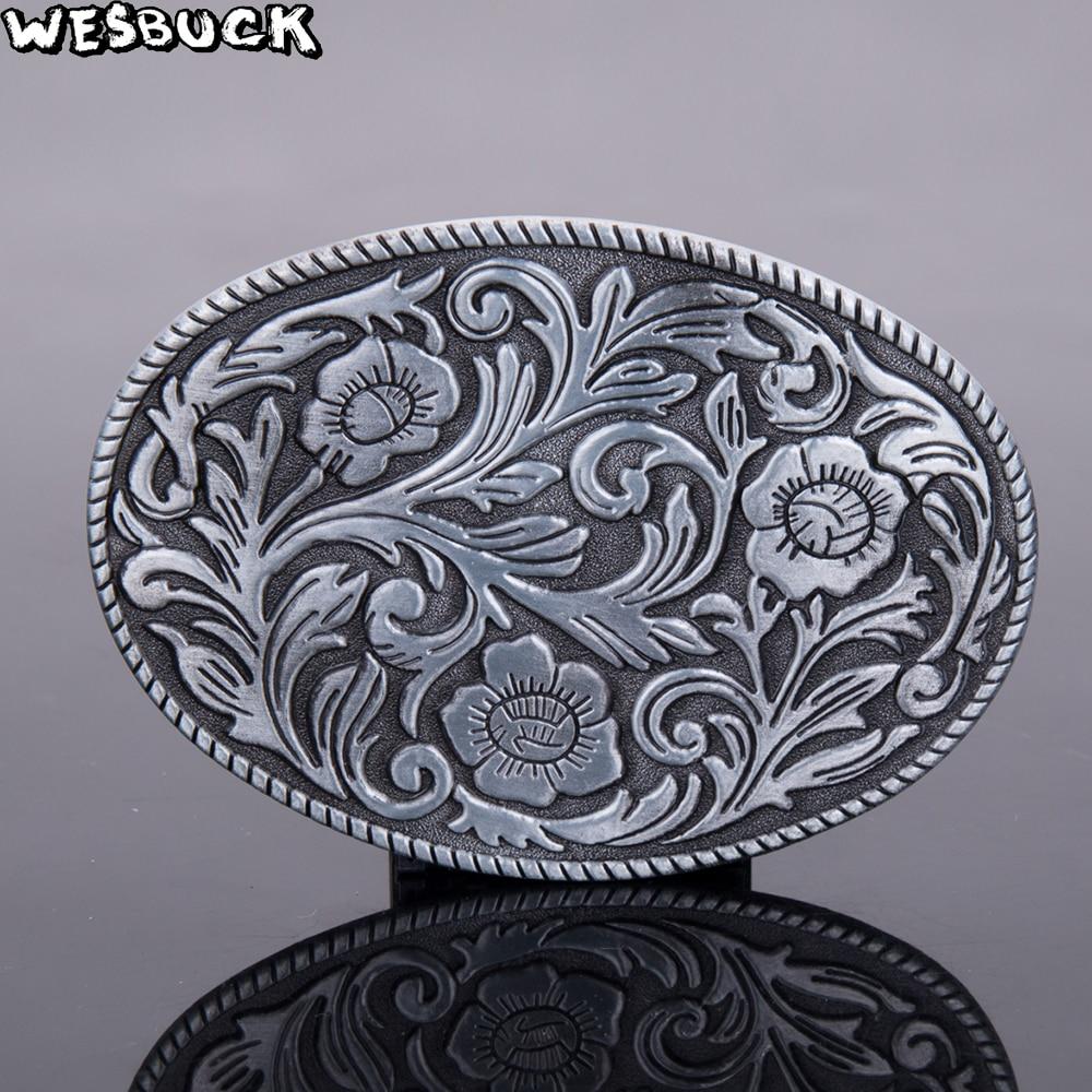 WesBuck Marke Metall Gürtel Schnallen klassische Vantage Schnalle für Mann Frauen Celti c Westlichen Schnallen mit Zinnende