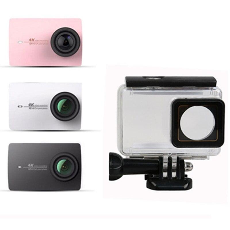 Action Camera Waterproof Case For Xiaomi Yi 4K Diving Case Underwater 40m For Xiaomi YI 2 II Yi 4k Protective Housing Case