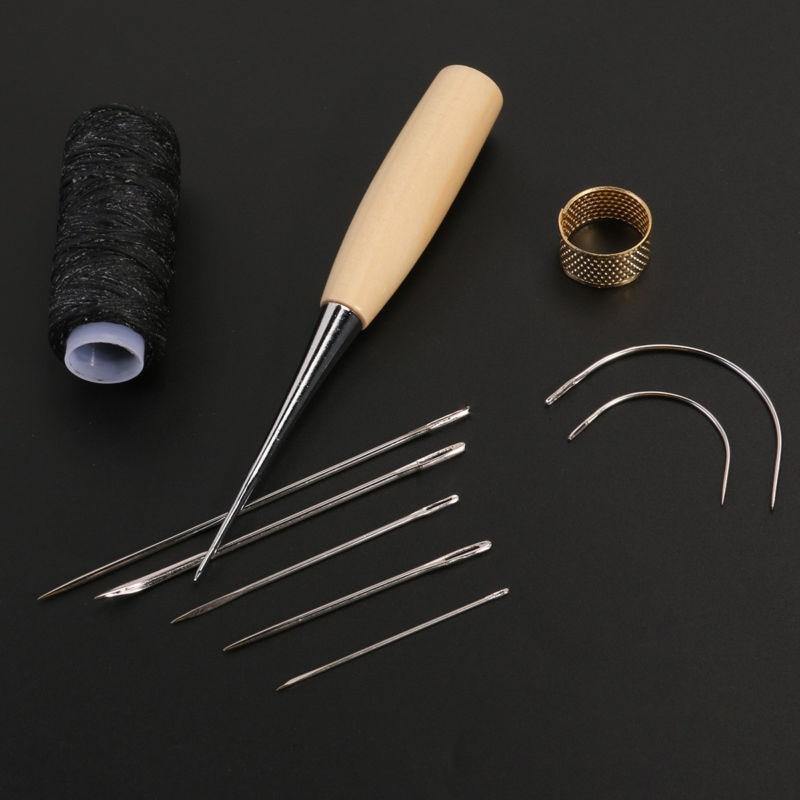 1 Set Nähen Nadel Ahle Leder Handwerk Nähen Zubehör Nähen Ahle Nähen Leathercraft Schuh Reparatur Werkzeuge Liefert