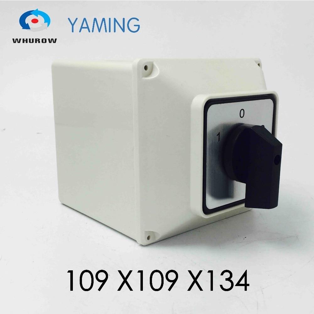Yaming-Interruptor de cámara eléctrico, YMW26-63/4M, 63A, 4 polos, 3 posiciones, con carcasa...
