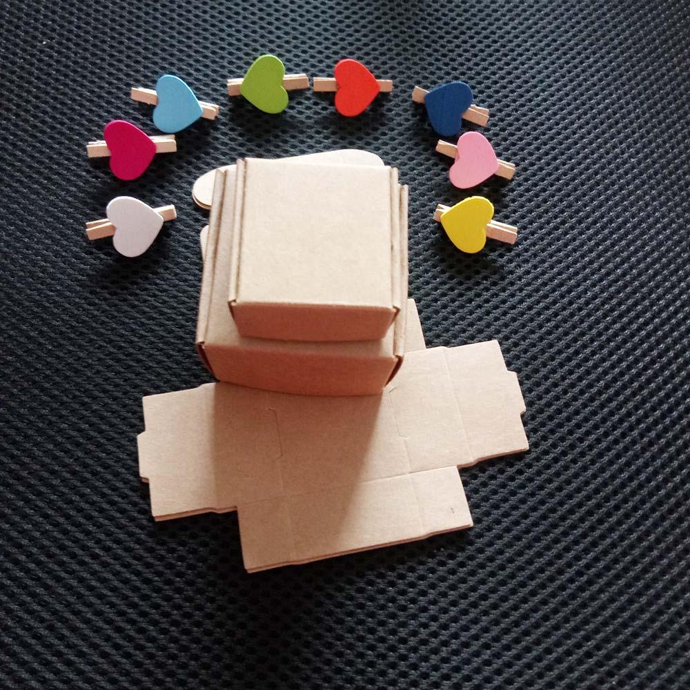 Подарочная коробка из коричневой крафтовой бумаги 100 шт., подарочные коробки для ювелирных изделий/свадьбы/ожерелья, упаковочные коробки дл...