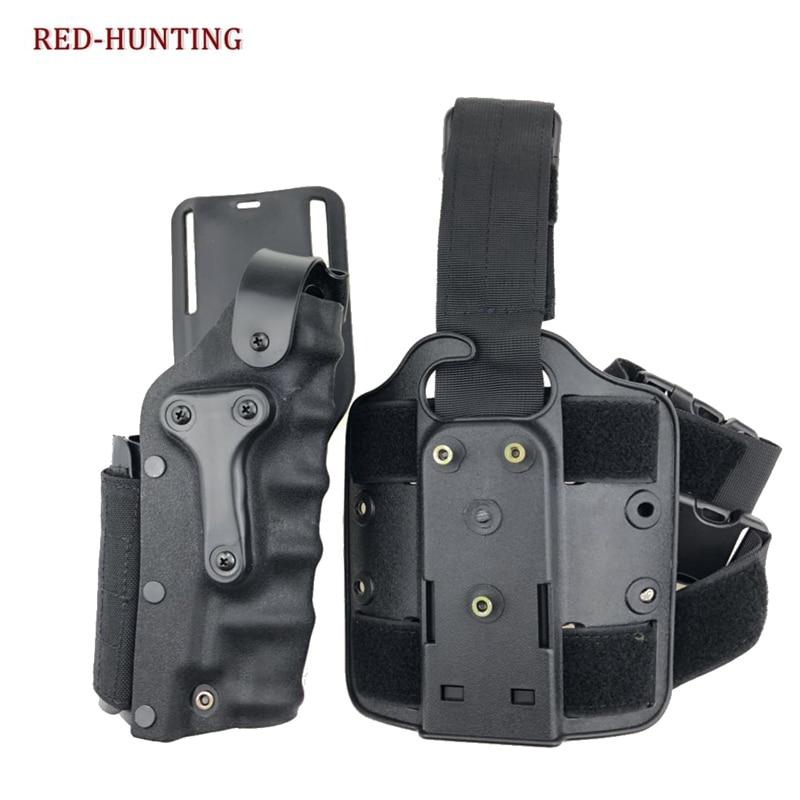 Militar universal pistola coxa dop perna coldre arma direita esquerda comum bolsa para glock/m9