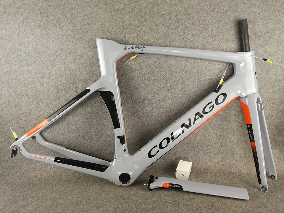 2020 nueva astilla naranja Colnago concepto marco carretera carbono china bicicleta Cuadro De Carbono XS/S/M/L/XL