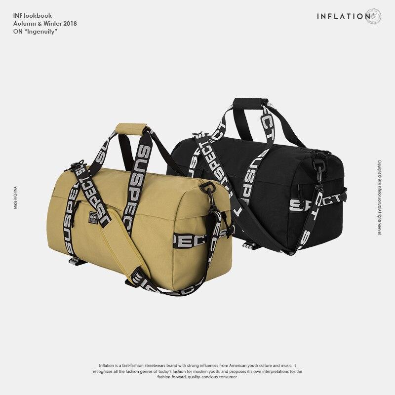Bolsas de bagagem e de viagem inflação, bolsas de bagagem com grande capacidade em nylon para o fim de semana, moda de hip hop ai2018