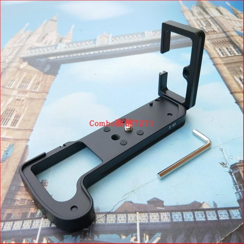 """X-H1 XH1 liberación rápida soporte de placa en forma de L agarre de mano con tornillo de 1/4 """"se adapta a FUJIFILM X-H1 XH1"""