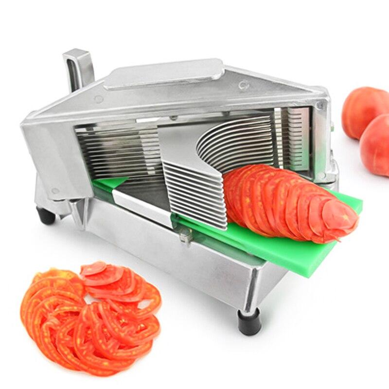 دليل الخضار القطاعة الفولاذ المقاوم للصدأ الفواكه/الخضار آلة فرم الطماطم القاطع قطع آلة TS-316