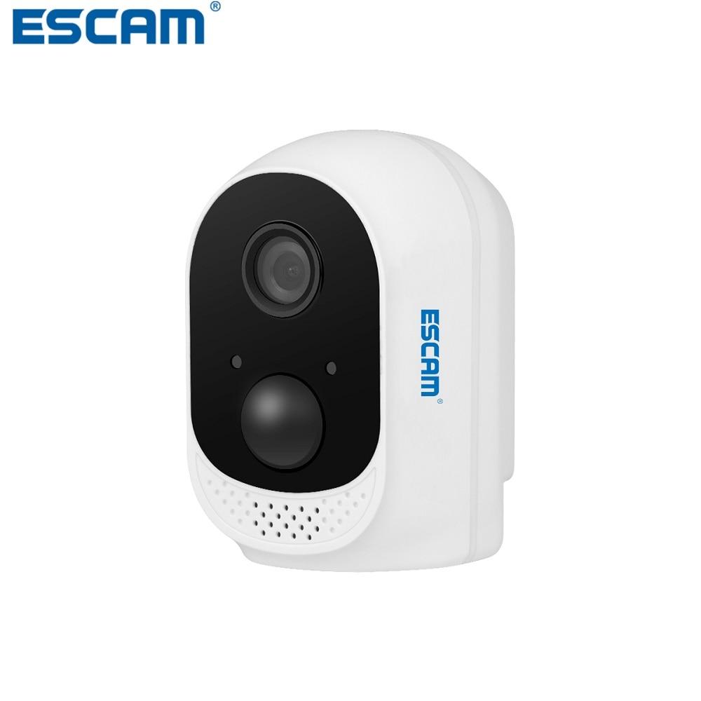 ESCAM QF230 HD 1080P 2MP cámara IP de seguridad P2P con batería de 10400mAh WIFI IR PIR alarma vigilancia visión nocturna CCTV