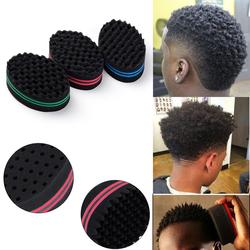 O transporte da gota mágica esponja escova de cabelo salão barbeiro onda pente para afros cachos bobinas dreadlocks