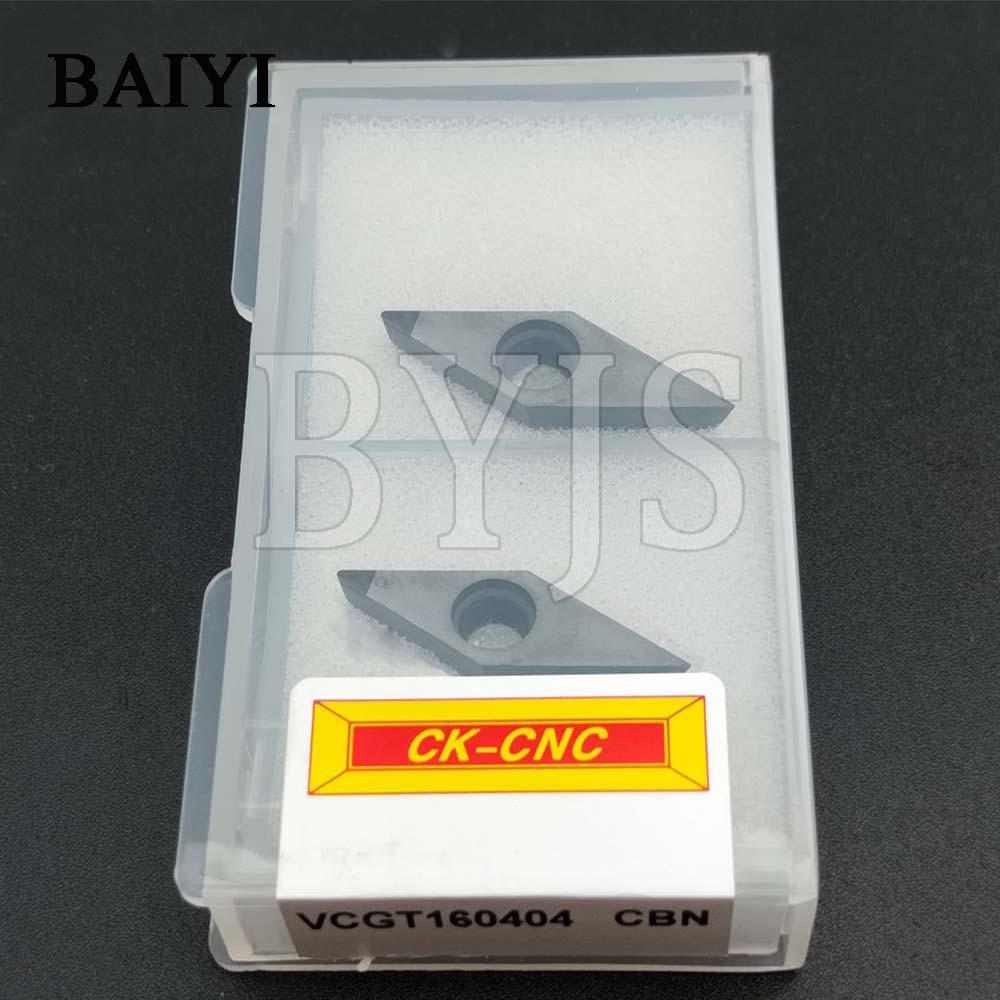 Купить с кэшбэком 2pcs VCGT160404 CBN VCGT 160404 Diamond Plates CBN inserts for carbide milling Turning inserts lathe for carbide cutting tools