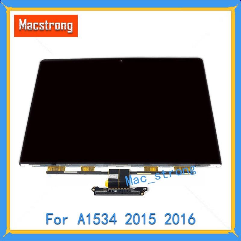 شاشة LCD زجاجية لجهاز MacBook Retina مقاس 12 بوصة A1534 ، لوحة عرض LED ، أصلية ، تم اختبارها ، A1534 ، 2015 ، 2016 ، 2017
