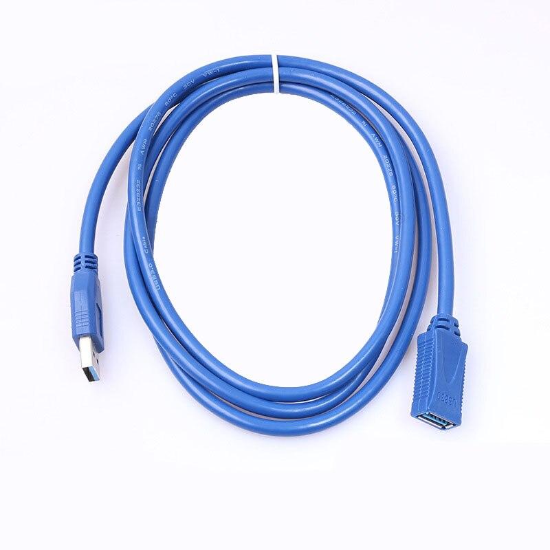 Лидер продаж синий полный Медь 0,3 м 0,5 м 1 м 1,5 м 1,8 м 3 м Usb3.0 мужчин и женщин кабель для передачи Данных Extension Line