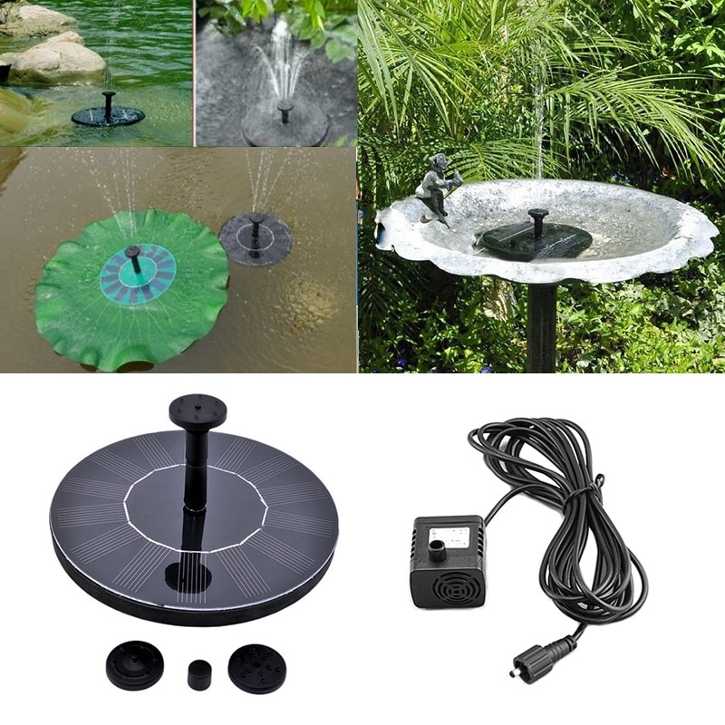 Bomba de fuente de agua Solar Panel Solar fuente de alimentación Kit de bomba piscina jardín estanque riego sumergible para piscina pecera piscina XNC