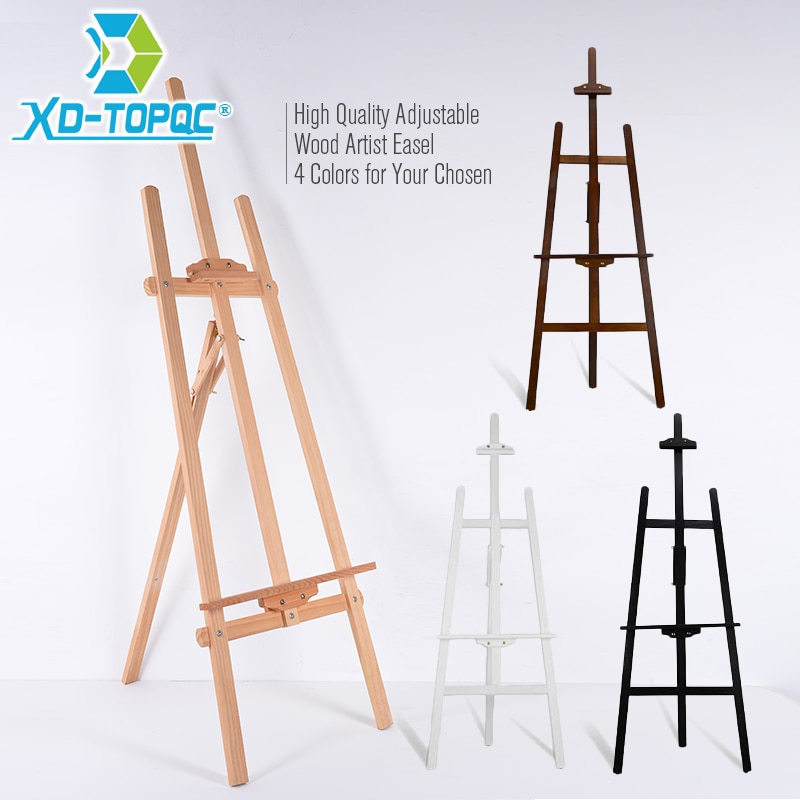 XINDI Adjustable Pine Wood Art Painting Easel 4 Colors Wooden Smooth Sketch Artist Easels For Drawing Board & Blackboard WE01 wood figurines easel racks double sided magnetic small blackboard brackets baby painting board wooden drawing educational toys