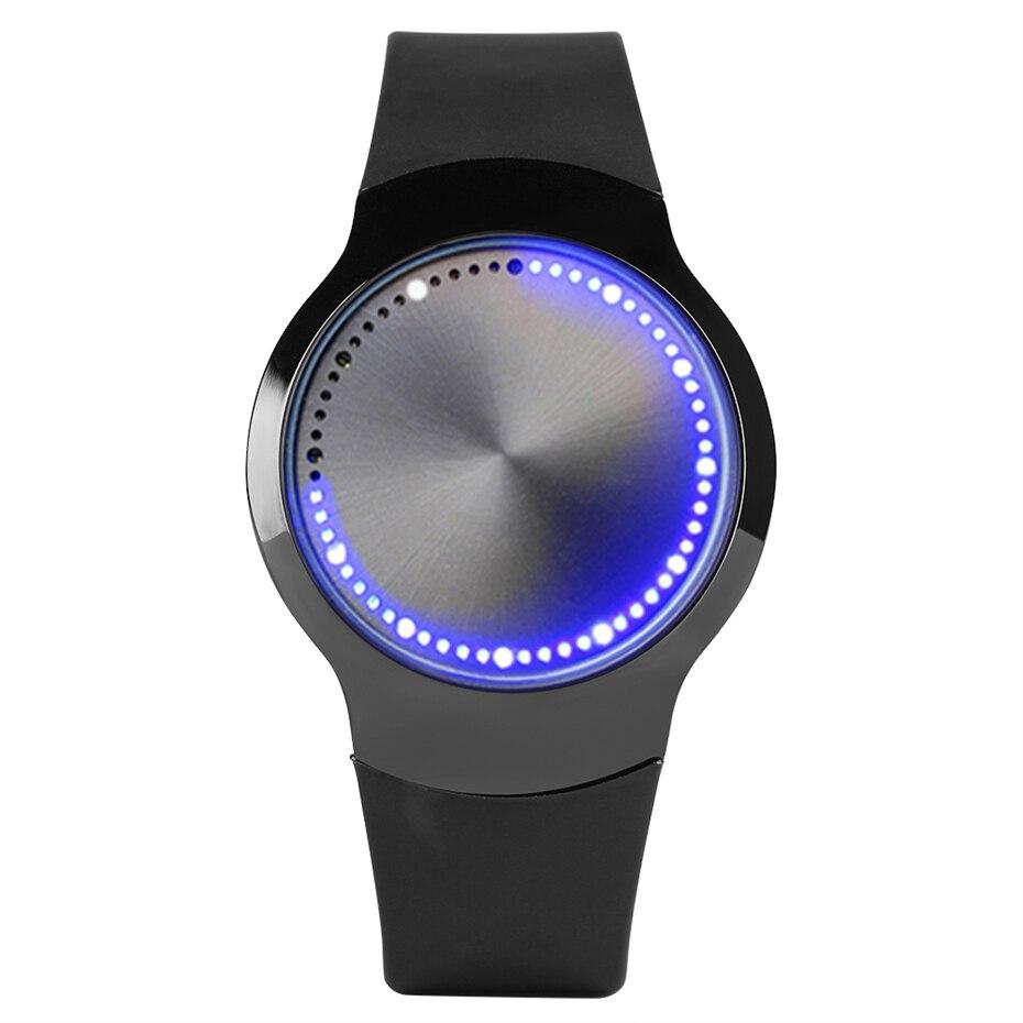 Reloj de hombre, reloj Digital con pantalla táctil LED, reloj de pulsera de silicona negro, reloj de pulsera de regalo para hombre