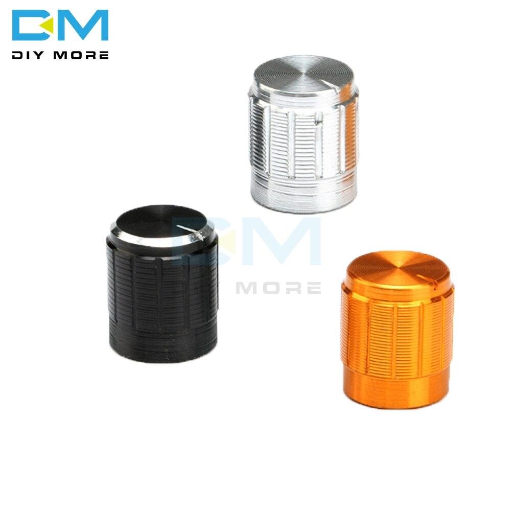 5 uds WH148 potenciómetro de aleación de aluminio para Dia 6mm Control De eje moleteado perillas rotativas 14x16mm negro plateado dorado gorro nuevo