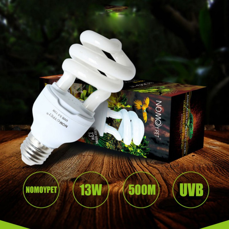 Reptile UVB 5.0 10.0 Lamp Bulb For Turtle Lizard Snake Lguanas Heat Calcium Lamp Bulb Energy Saving Light Reptile E27