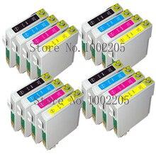 16 Compatible T0711-T0714 T0715 cartuchos de tinta para Epson Stylus DX4400 DX4450 DX6050 DX7400 DX7450 DX8400 DX8450 DX9400 impresora