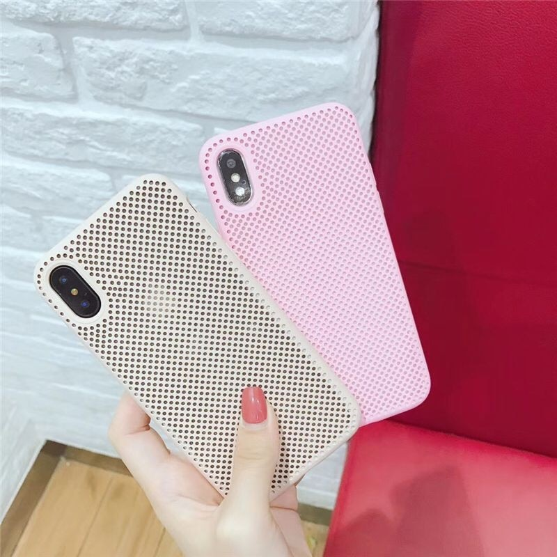 Para o iphone XS MAX XR X Caso Malha TPU Soft Case Para iphone 5 7 8 6 6s Plus Completo Buraco Favo de mel Coque Capa Capa Protetora