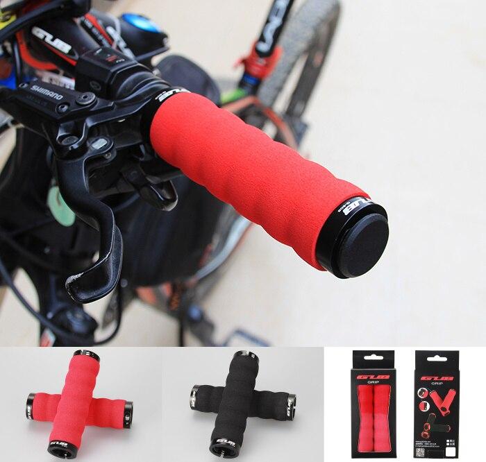 Ультралегкие эргономичные складные рукоятки для велосипеда, фиксирующие рукоятки с Двойным Зажимом и наконечниками для горного велосипеда