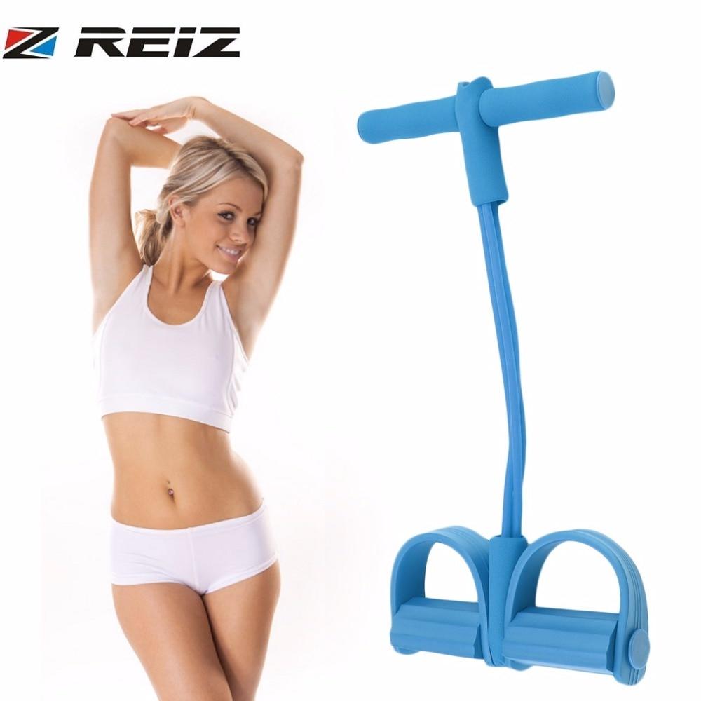 Reiz 4 elástico banda resistência de fitness corda yoga pilates workout tubo látex puxar corda equipamento exercício trainer ferramenta
