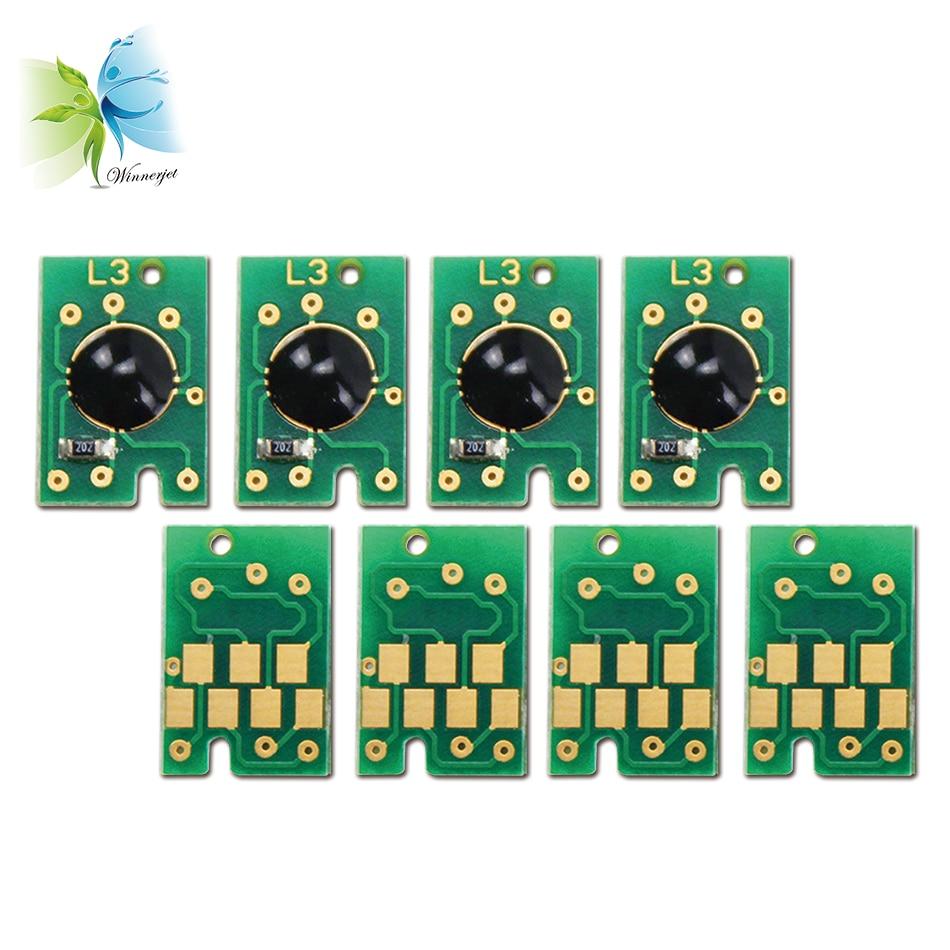 WINNERJET 3 set/lote doble MK C M Y chip de cartucho reiniciable para Epson 7450 de 9450 de 7400 impresora 9400