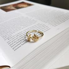PerisBox minimaliste or couleur Rose fleur anneaux pour les femmes 925 Sterling argent couches anneaux Bague pile ouverte anneaux amoureux cadeaux