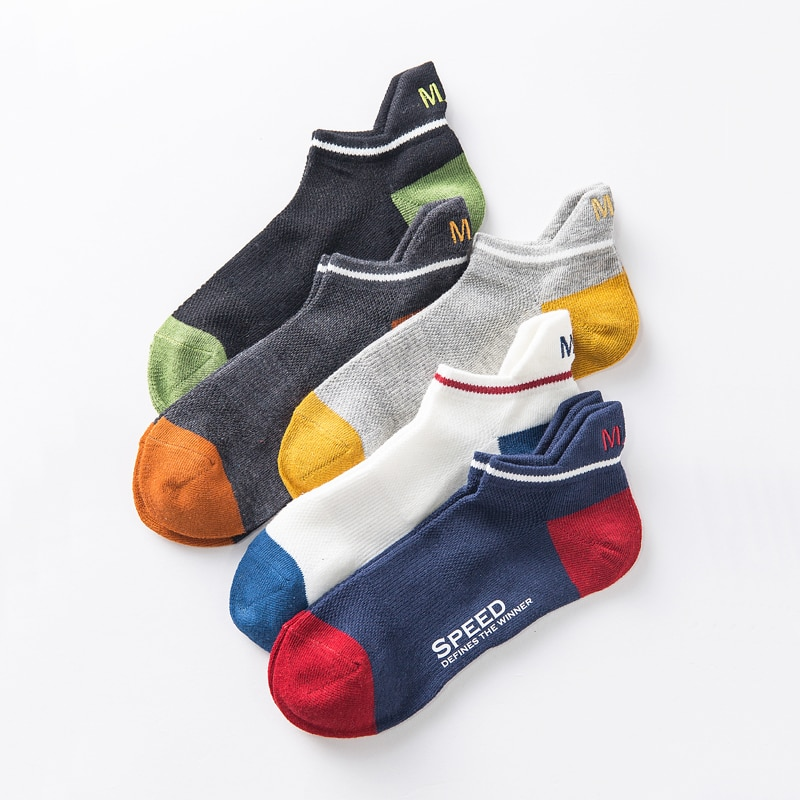 Тонкие хлопковые сетчатая лодка носки мужские женские короткие летние дышащие мужские мягкие носки Harajuku крутые новые носки 1 пара