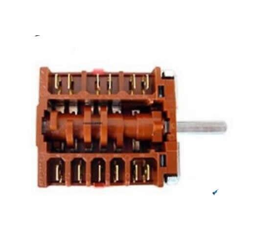 Quemador eléctrico rotativo rsw006, 6 posiciones, SUPERIOR