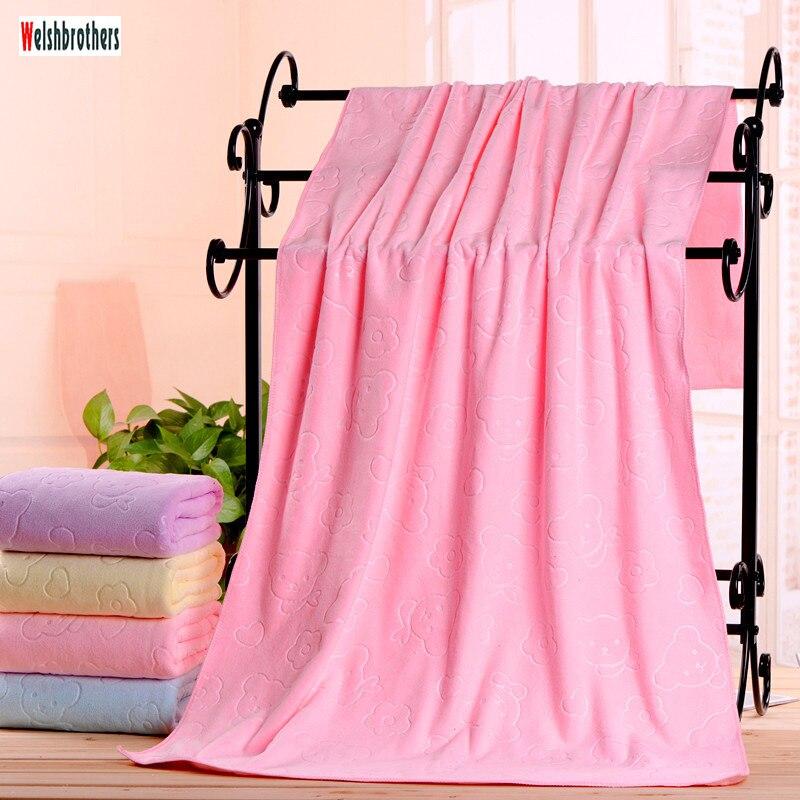 Toalla de baño al por mayor de microfibra en relieve oso 70*140 toalla absorbente tres segundos Toalla de secado rápido directo de fábrica sales2018