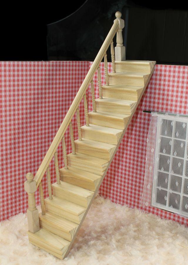 Maison de poupée 112   Escaliers miniatures en bois avec main latérale, accessoires de bricolage, livraison directe