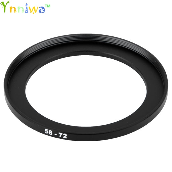 Juego de filtros adaptadores de lentes anillos metálico de regulador 58-72mm