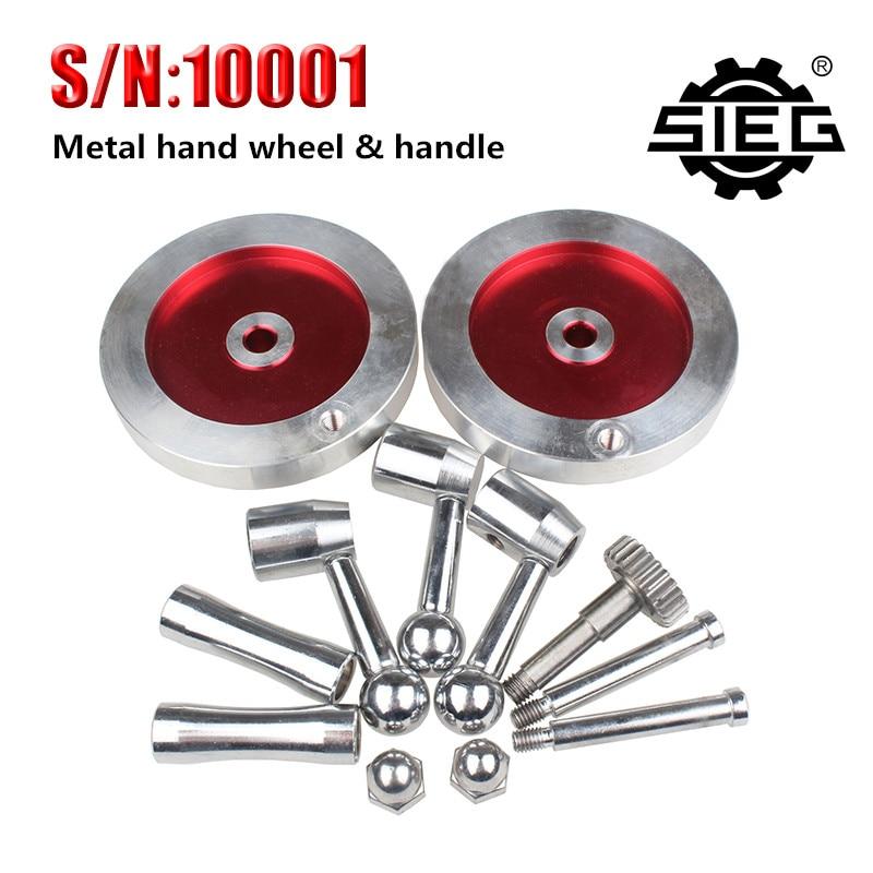 Envío Gratis, accesorios de torno SIEG, S/N 10001, kit de empuñadura de volante de Metal