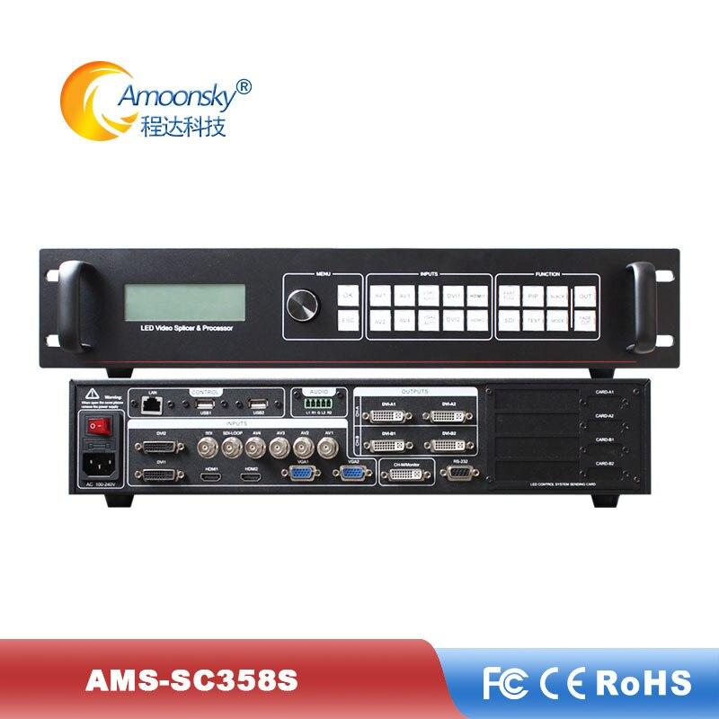Ams-sc358s empalmadora de pantalla de vídeo led compatible con resolución personalizada de 5,3 millones de píxeles para pantalla led de publicidad al aire libre