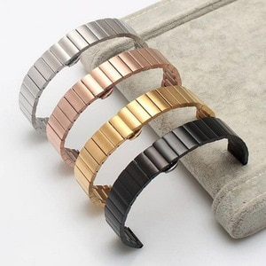 16mm 18mm 20mm 22mm Stainless Steel Watch band Strap Bracelet Watchband Wristband Butterfly clasps Black Silver Rose Gold