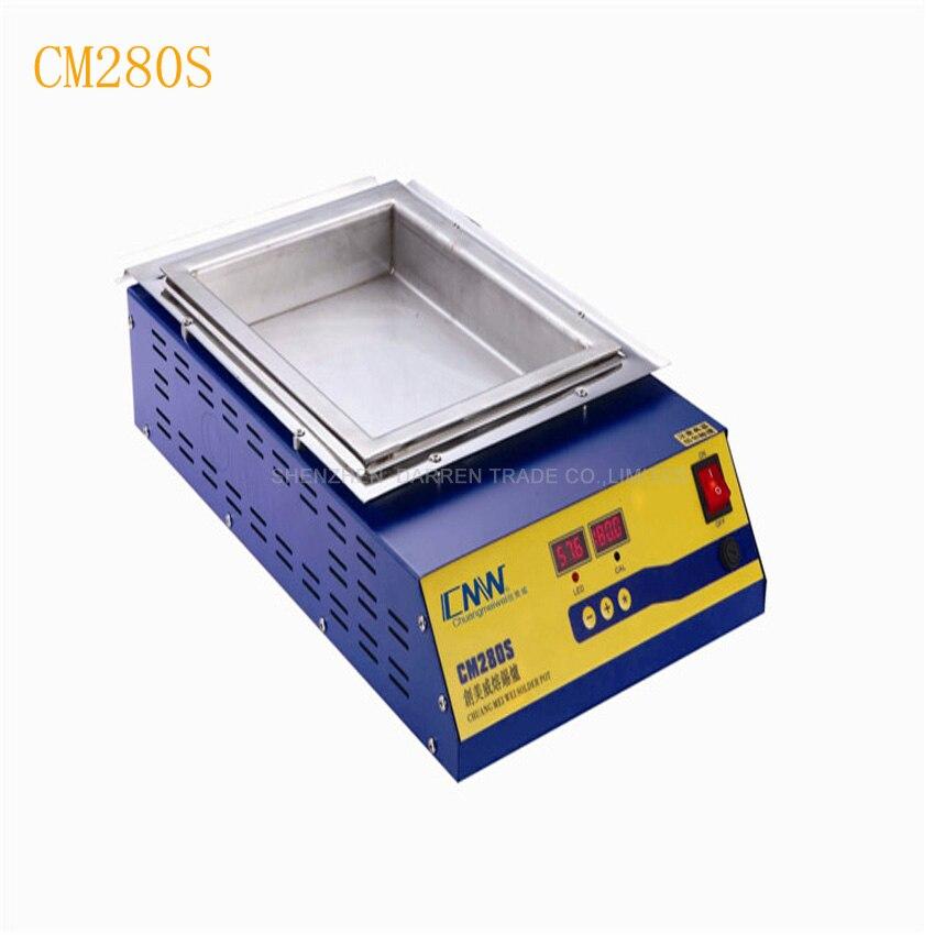 CM280S, soldadura Digital doble sin plomo, soldadura de crisol, desoldador de baño, 110/220 V, máquina de soldadura desoldadora de baño