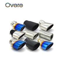 Silenciador de tubo de escape de acero inoxidable cromado para Chevrolet, Peugeot, Toyota, Nissan, Ford, Suzuki, para coche universal