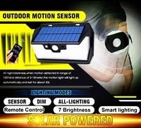 55 leds Solar light remote control radar 3 side lighting usb port camp Outdoor Garden Yard Emergency security lamp street