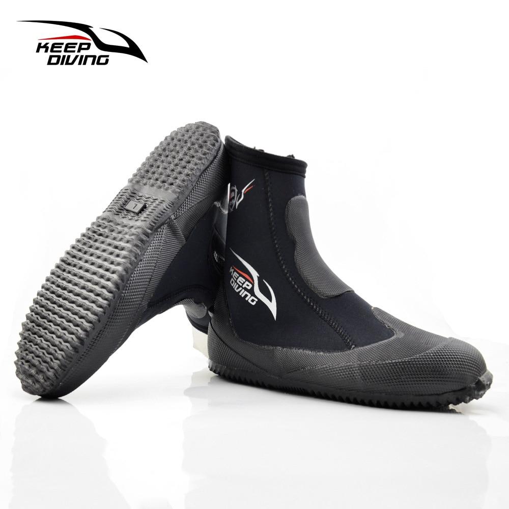 5mm çizme zhytjeje neoprene këpucë uji vullkanizim dimër i ftohtë prova të larta të sipërme të ngrohta këpucë të peshkimit