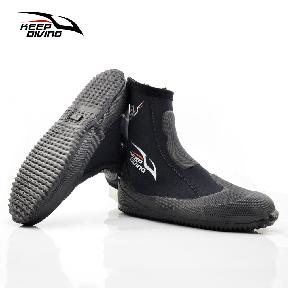 5mm neoprenske čizme za ronjenje cipele na vodi cipele za vulkanizaciju zima hladno propusne visoke gornje tople peraje cipele za podvodni ribolov