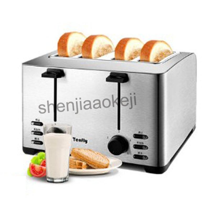 Tostadora de 4 rebanadas para el hogar tostadora de acero inoxidable máquina de desayuno y tostadora comercial THT-3012B 220v 1260w1pc