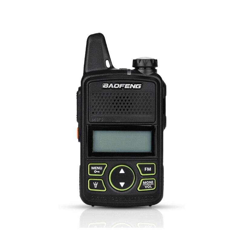 Baofeng мини-портативная рация, модный стиль, двухсторонняя рация, BF-T1 UHF 400-470 МГц, 20CH USB, перезаряжаемая