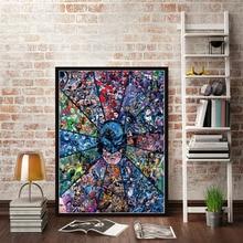 Christmas Gifts Posters and Prints Marvel DC Comics Superheros Batman Joker Avengers Superman Canvas Painting Wall Art Poster