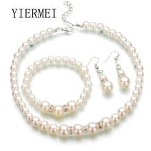 Mode chaude mode Europe et les états-unis classique imitation perle collier mariée bijoux coréen fine fait main perlé jewe