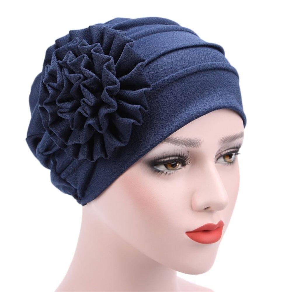 Moda feminina Estiramento Turbante Muçulmano Chapéu Cap Quimio Perda de Cabelo Cabeça Envoltório Do Lenço Cap chapeau femme Hijib 6 cores