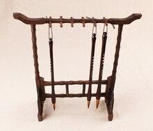 Pinceau chinois chevalet calligraphie porte-stylo acajou bois chinois tête de dragon cadeaux daffaires style chinois bureau décor ACS015