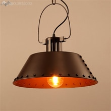 JW America Retro Loft Pendant Lamp Iron Industrial Style Hanging Light for Living Room Cafe Bar Restaurant Fixtures Decoration